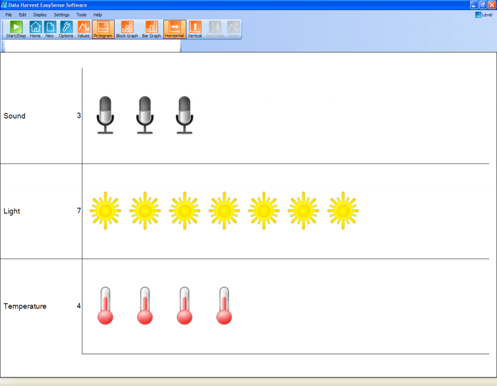 Vu Pictogram screen